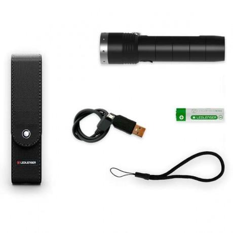 LED LENSER MT10 1000LM+ACUM.+USB+HUSA