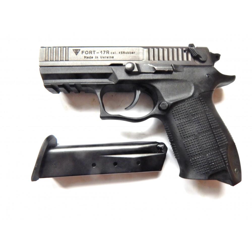 Pistol cu bile de cauciuc, model FORT 17R , calibru 0.45 ( plus toc plus cartuse )