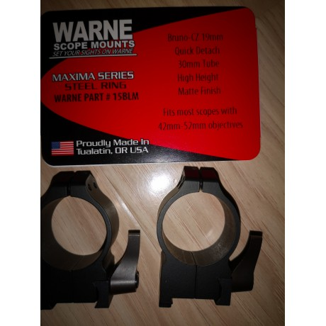 Inele CZ 550 warne quick detach 30 mm